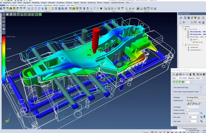 3D CAD software including VISI - Design, Work NC - CNC Programming, Pro-E, Mechanical Desktop, 6 seats of VISI5, Seats of Pro-Engineering, and Virtual Gibbs